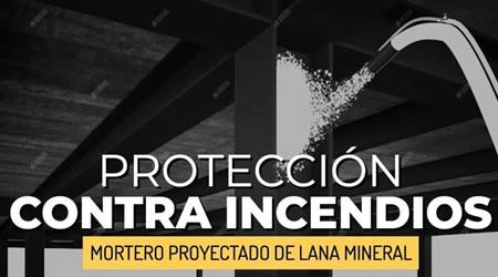 Protección contra incendios de estructuras metálicas con mortero proyectado de lana mineral